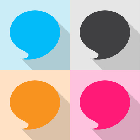 shadow speech: Blank empty speech bubbles icons set great for any use. Vector