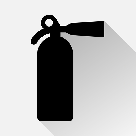 foam safe: fire extinguisher icon great for any use. Vector. Stock Photo