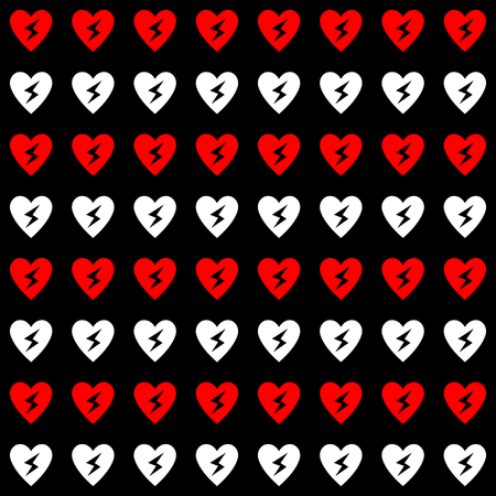 White and red Heart background great for any use. Vector EPS10.