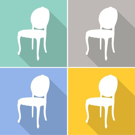 arm chair: Chair icons set great for any use. Vector EPS10. Illustration