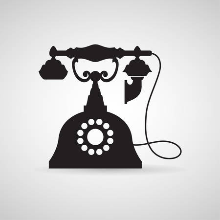 telephone icon: Telephone Vintage icon great for any use. Vector EPS10. Illustration