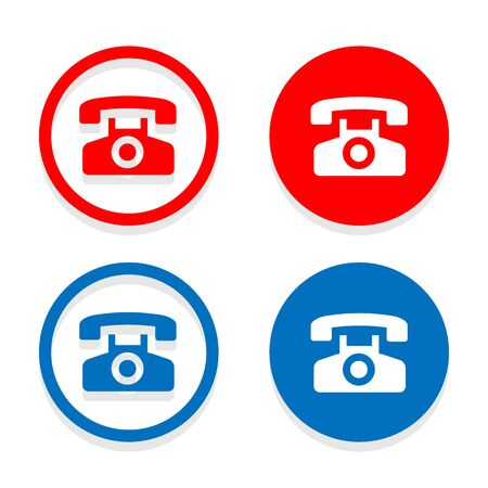telephone icons: telephone icons set great for any use. Vector EPS10.