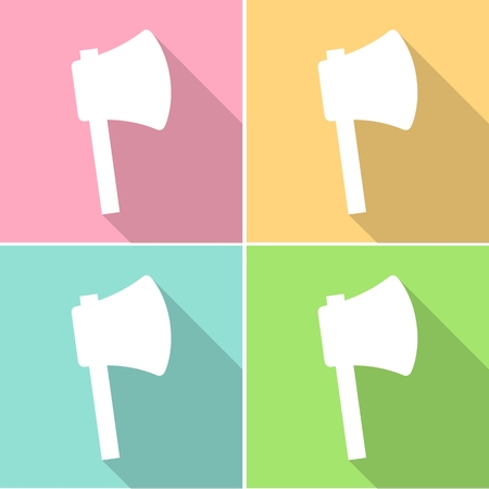 pick ax: Axe icons set great for any use. Vector EPS10.