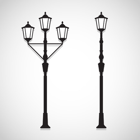 Vintage Lamp icons set great for any use. Vector EPS10.