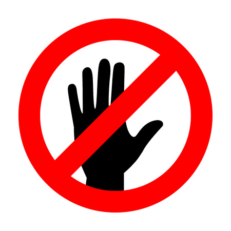 no touch icon great for any use. Vector EPS10. Stock Illustratie