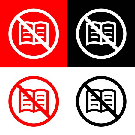 leggere libro: No Read book icons set great for any use. Vector EPS10.