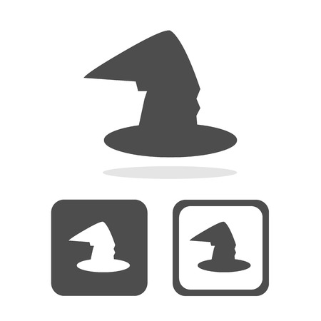 magic witch hat icons set great for any use. Vector EPS10.