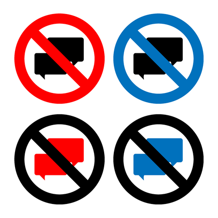 No Chat sign icons set great for any use. Vector EPS10.