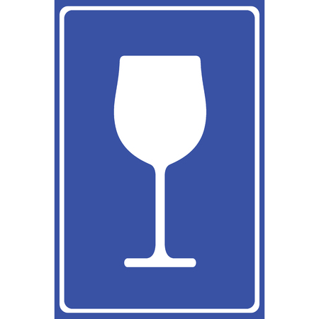 Wine glass icon great for any use. Vector EPS10.