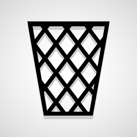 rubbish cart: Basket icon great for any use. Vector EPS10. Illustration