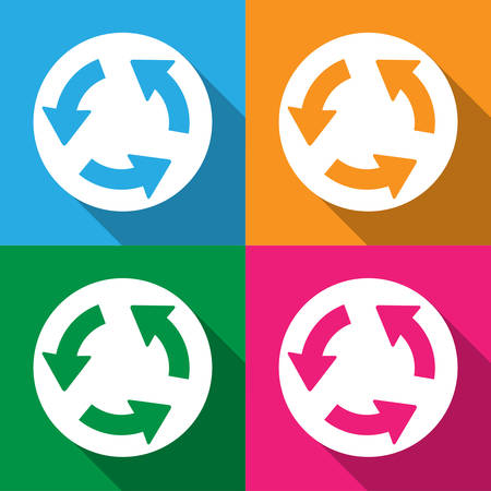 Refresh icons set great for any use. Vector EPS10.