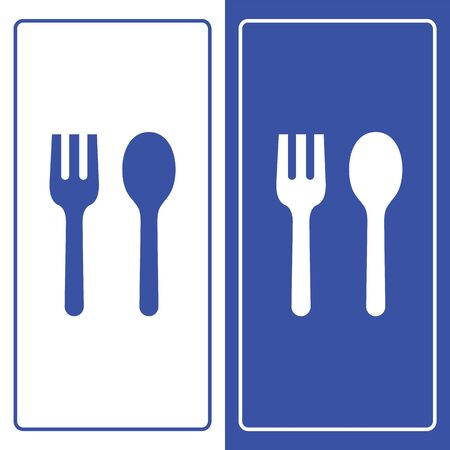 Fork and Spoon icons set great for any use. Vector EPS10. Illusztráció