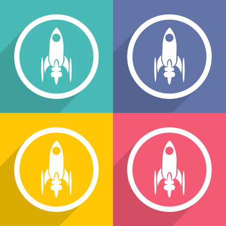 Rocket icons set great for any use. Vector EPS10.