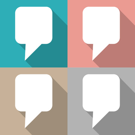 Talk speech bubble icons set great for any use. Vector EPS10.