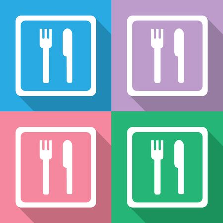 dinning table: fork and knife icons set great for any use. Vector EPS10.