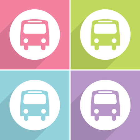 Bus icons set great for any use. Vector EPS10.