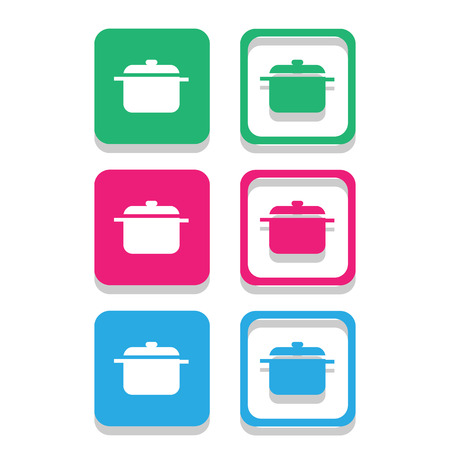 Pot icons set great for any use. Vector .