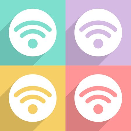 Wifi icons set great for any use. Vector EPS10.