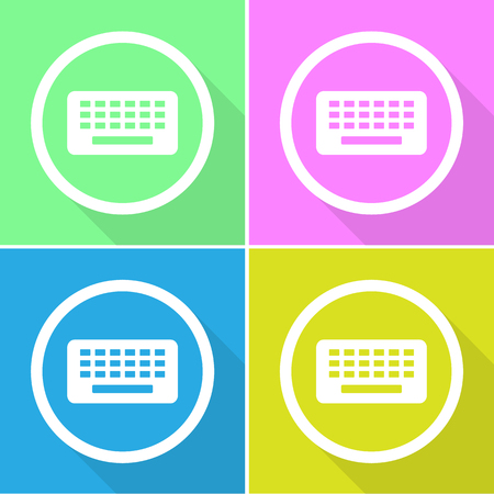keyboard icons set great for any use. Vector EPS10.