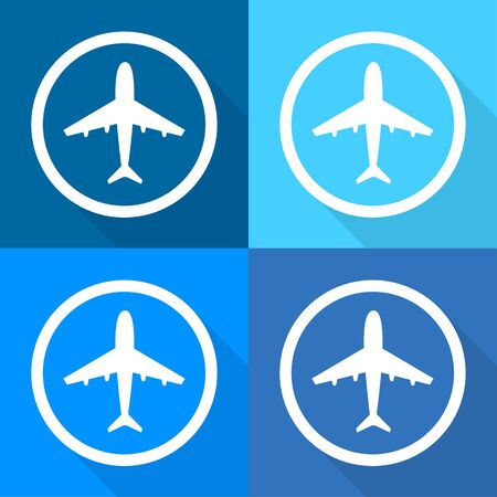airplane icons set great for any use. Vector EPS10.