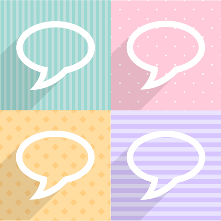 bubble talk: Talk speech bubble icons set great for any use. Vector EPS10.