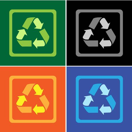Recycle icons set great for any use. Vector EPS10.