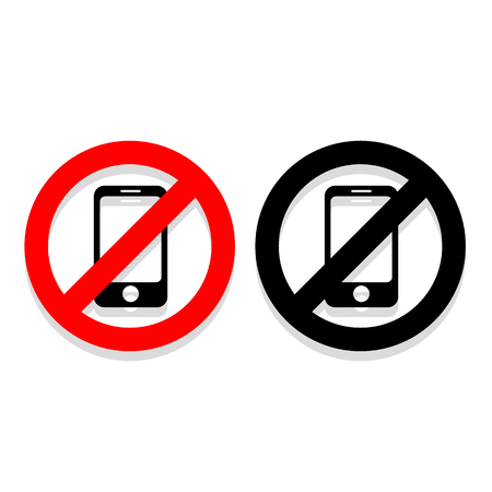 No Phone icons set great for any use. Vector EPS10.