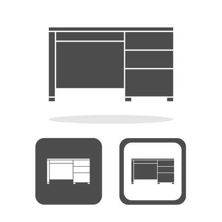 Table icons set great for any use. Vector EPS10.