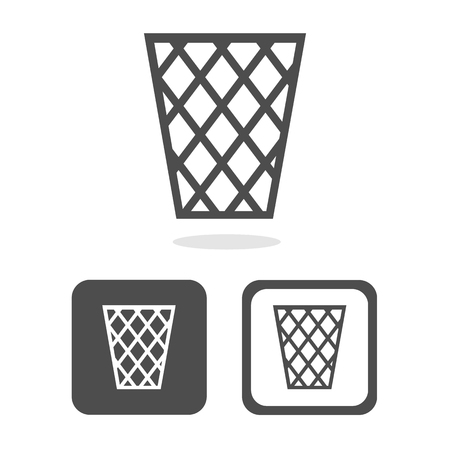 rubbish cart: basket icons set great for any use. Vector EPS10.