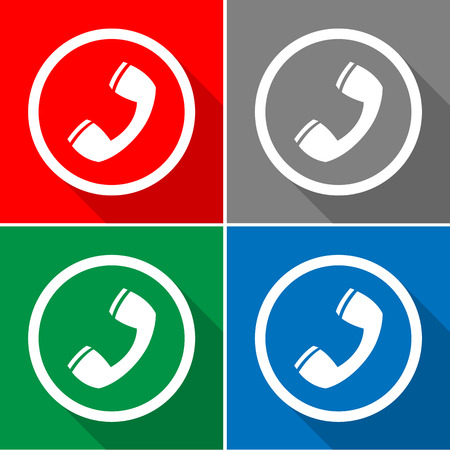 telephone icons set great for any use. Vector EPS10.