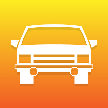Car icon great for any use. Vector EPS10.