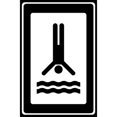 Swimming sign icon great for any use. Vector EPS10. Ilustrace