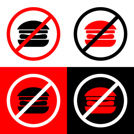 No Burger icons set great for any use. Vector EPS10.