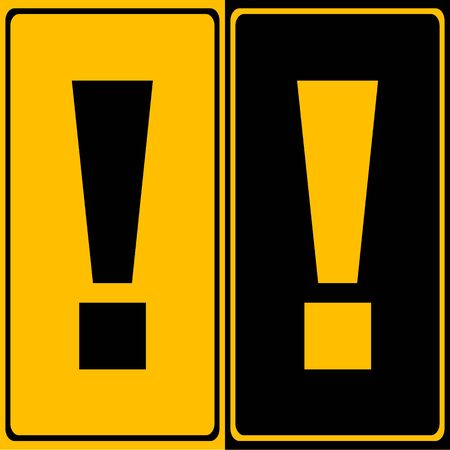 great danger: Exclamation danger sign icon great for any use. Vector EPS10. Illustration