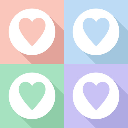 Heart icons set great for any use. Vector EPS10. Stock fotó - 48255404