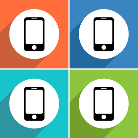 smart phone icons set great for any use. Vector EPS10. Ilustrace