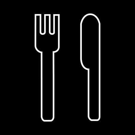 Knife and fork icon great for any use. Vector EPS10.