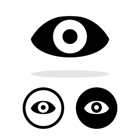 eye icons set great for any use. Vector EPS10.