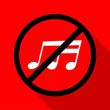 phone ban: No music icon great for any use. Vector EPS10.