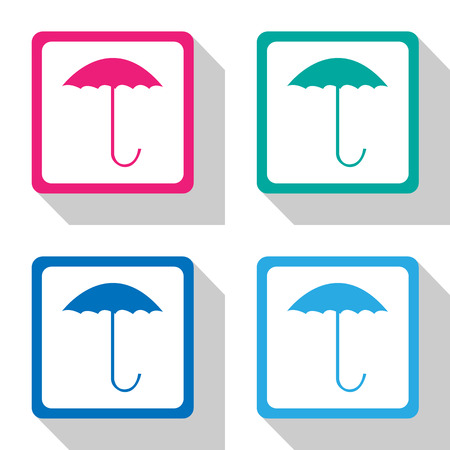 umbrella icons set great for any use. Vector EPS10. Ilustrace