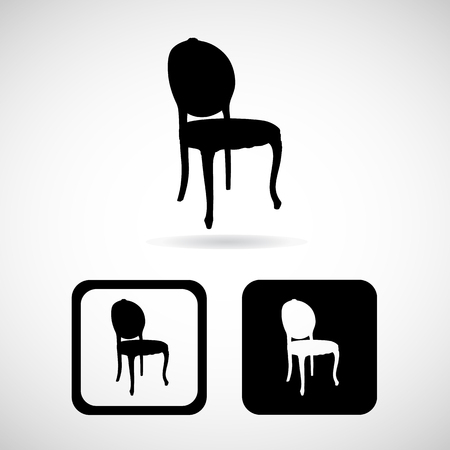 Chair icons set great for any use. Vector EPS10. Stock fotó - 48255506