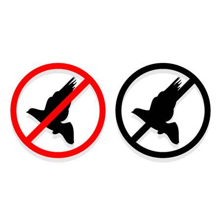 No bird icons set great for any use. Vector EPS10. Ilustrace