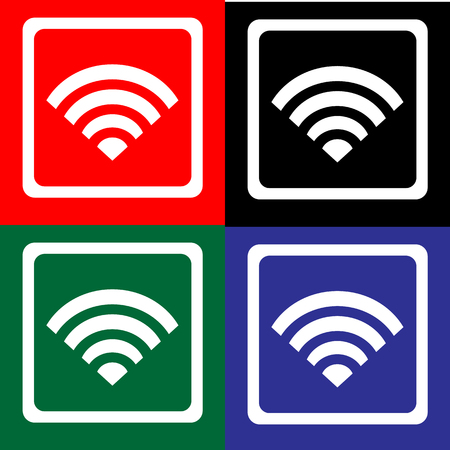 wifi icon great for any use. Vector EPS10. Stock fotó - 48255515