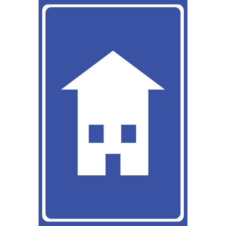 Blue Home icon great for any use. Vector EPS10.