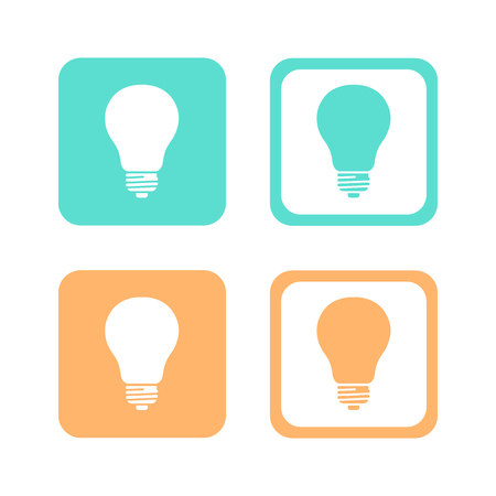 Lamp icons set great for any use. Vector EPS10.