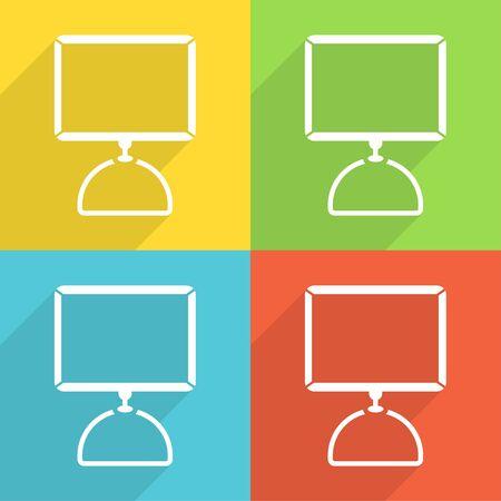 Computerpictogrammen instellen geweldig voor elk gebruik. Vector EPS10.