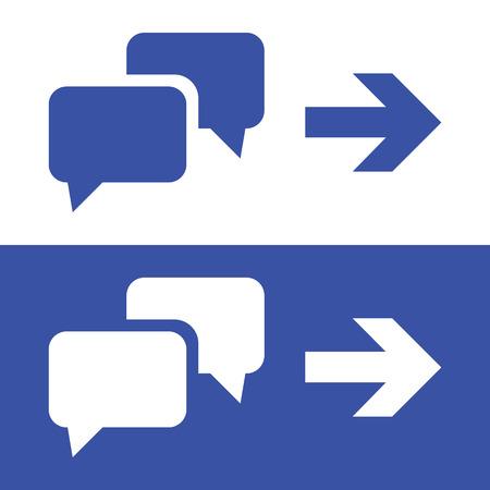 chat-pictogrammen instellen geweldig voor elk gebruik. Vector EPS10.