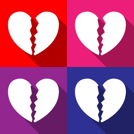 Broken Heart icons set zeer geschikt voor elk gebruik. Vector EPS10. Stock Illustratie
