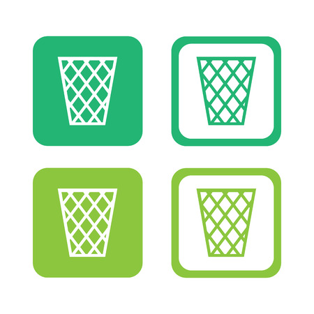 basket icons set great for any use. Vector EPS10.