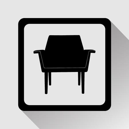 Sofa icoon groot voor om het even welk gebruik. Vector EPS10.